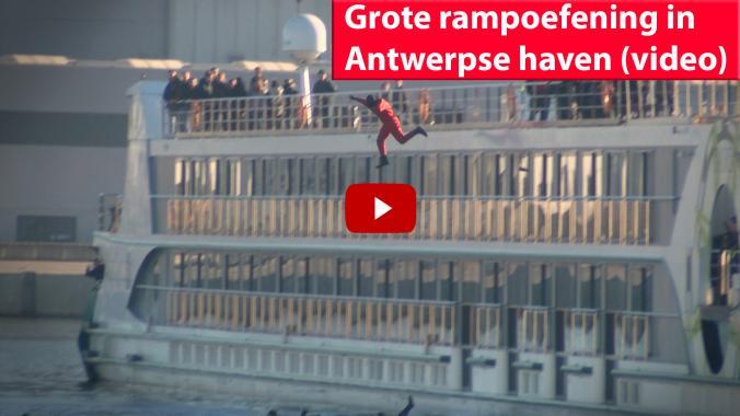 Grote rampoefening in Antwerpse haven