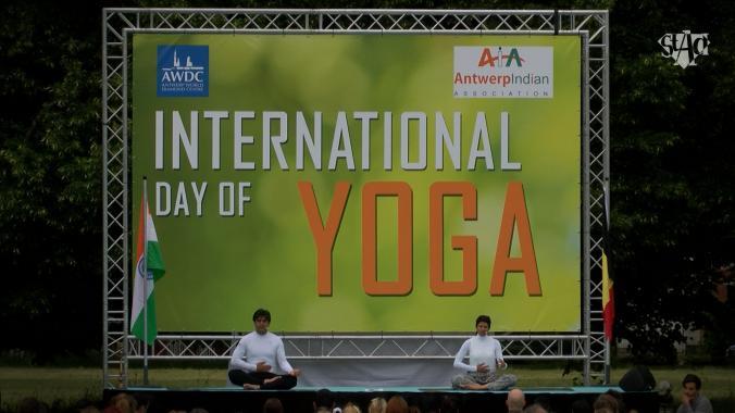 International Yoga Day in Antwerp